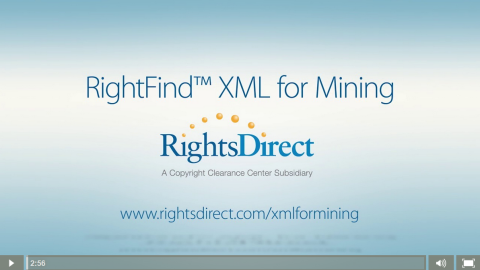 RD XML for Mining